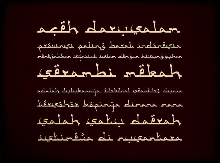 Aceh Darusalam font by Gunarta