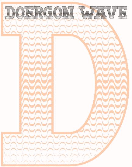 Doergon Wave font by Peter Wiegel