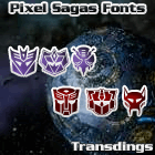 Transdings font by Pixel Sagas