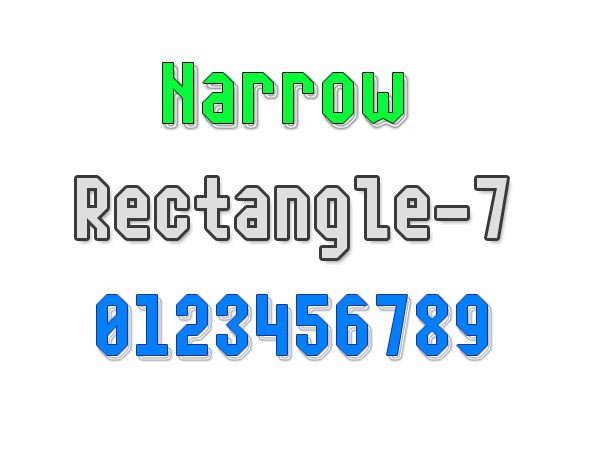 Narrow Rectangle-7 font by Style-7
