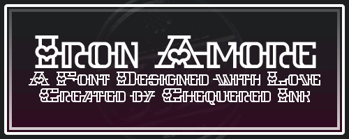 Iron Amore font by Chequered Ink