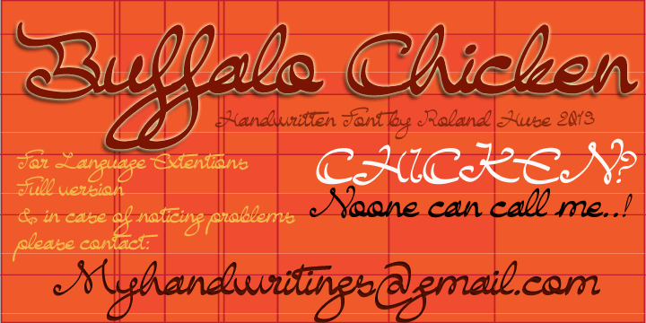 Buffalo Chicken font by Roland Huse Design
