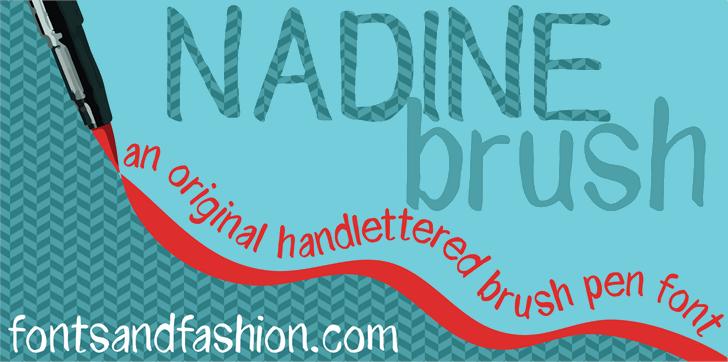 NADINE brush font by Fontsandfashion