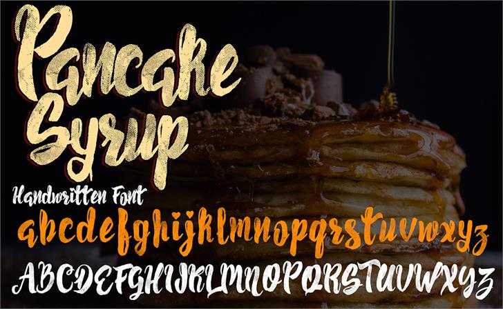 Pancake Syrup  Textured font by knackpackstudio