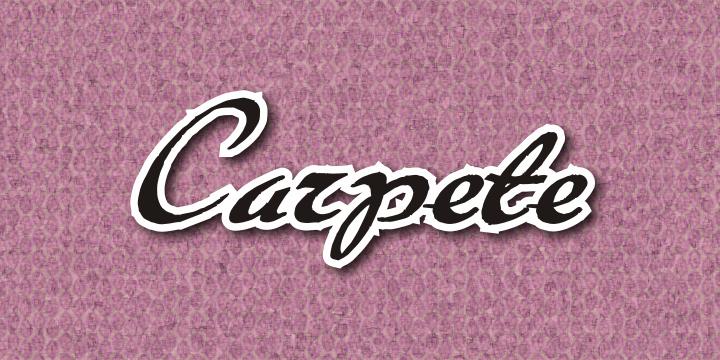 Carpete font by Intellecta Design