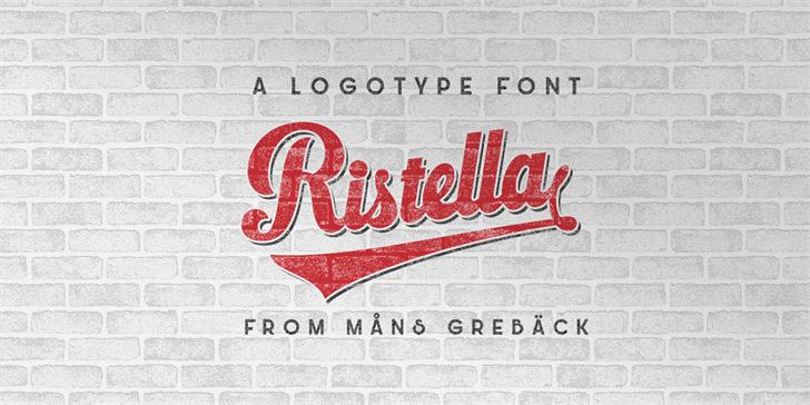 Ristella PERSONAL USE ONLY font by Måns Grebäck