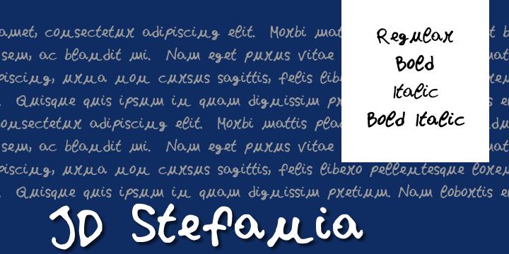 JDStefania font by Jecko Development