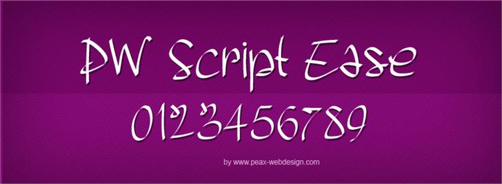PWScriptease font by Peax Webdesign