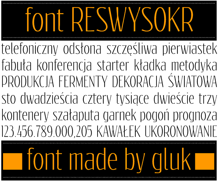 Reswysokr font by gluk
