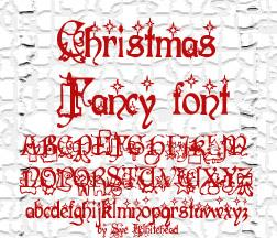 Christmas Fancy font by Art Designs by Sue