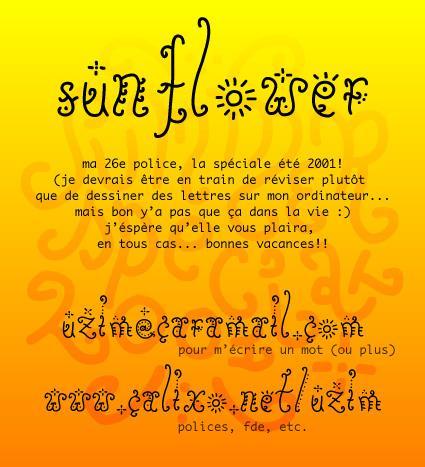 Sunflower font by Uzim