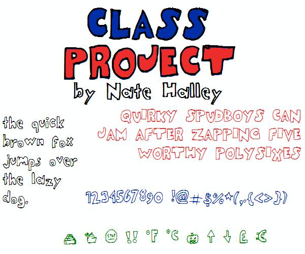 ClassProjectNBP font by total FontGeek DTF, Ltd.