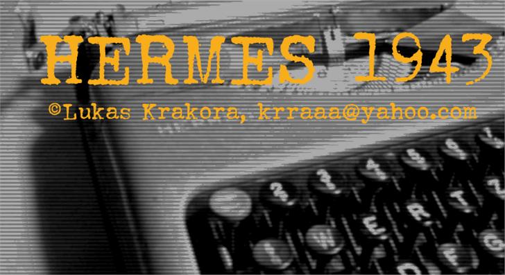 HERMES 1943 font by Lukas Krakora