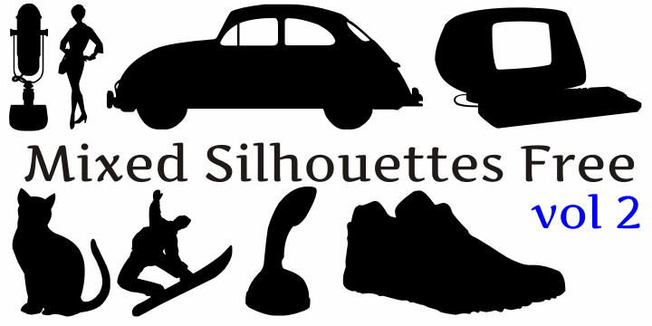 Mixed Silhouettes Free vol 2 font by Intellecta Design