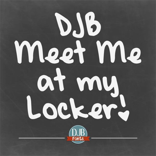 DJB Meet Me at My Locker font by Darcy Baldwin Fonts