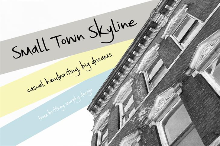 Small Town Skyline font by Brittney Murphy Design