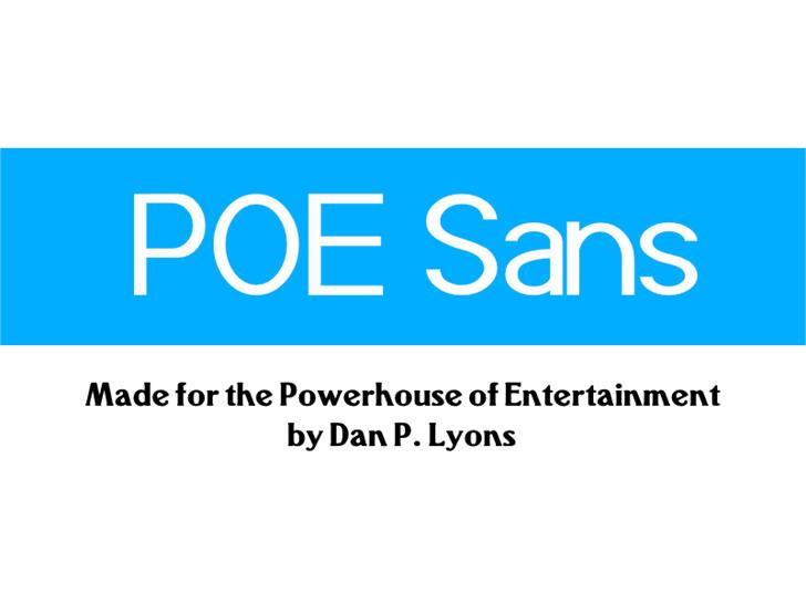 POE Sans (Demo) font by 538Fonts