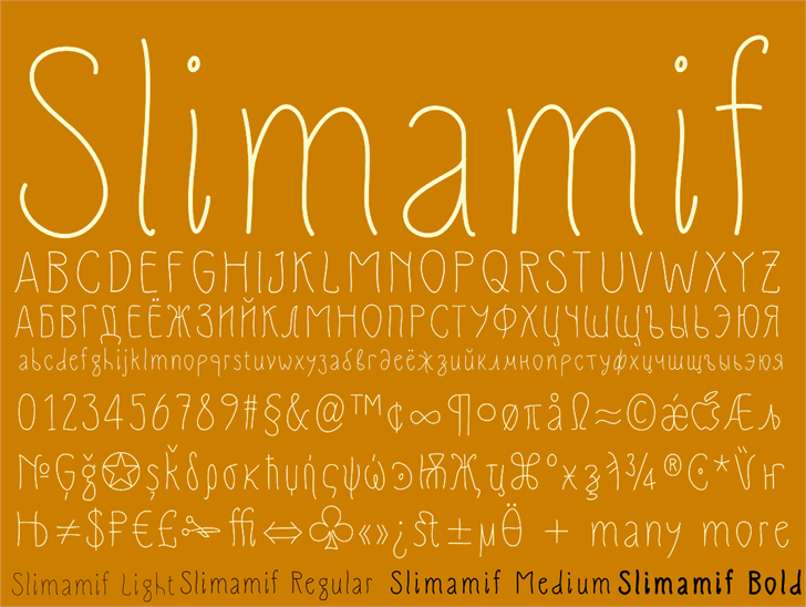 Slimamif font by Dimka.com