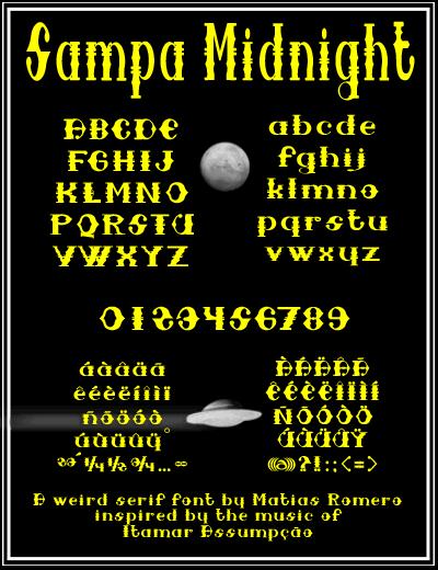 Sampa Midnight font by Matias Romero