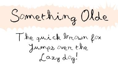 Something Olde font by Davy Meykens