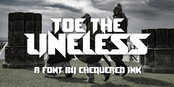Toe the Lineless font by Chequered Ink