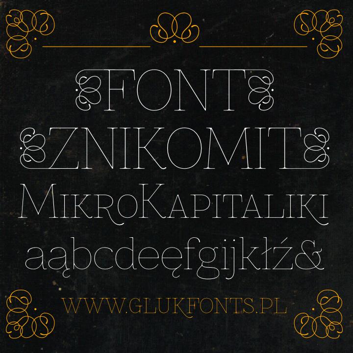 Znikomit font by gluk