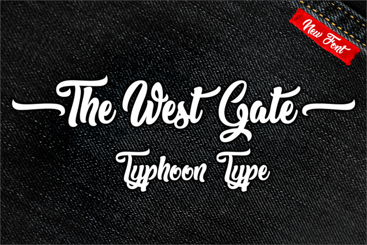 The West Gate font by Typhoon Type - Suthi Srisopha
