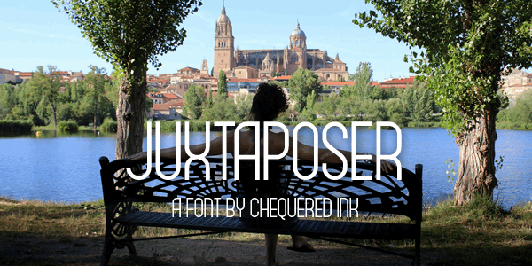 Juxtaposer font by Chequered Ink