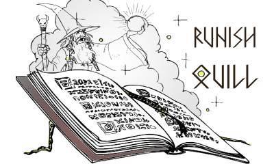 Runish Quill MK font by Manfred Klein