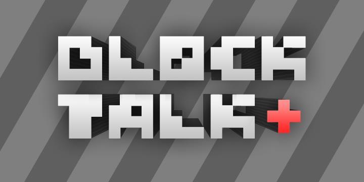 Block Talk font by Måns Grebäck