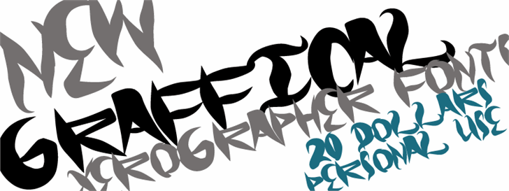 Graffical font by Xerographer Fonts