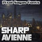 Sharp Avienne font by Pixel Sagas