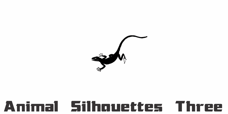 Animal Silhouettes Three font by Intellecta Design