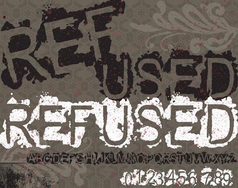 VTKS REFUSED font by VTKS DESIGN