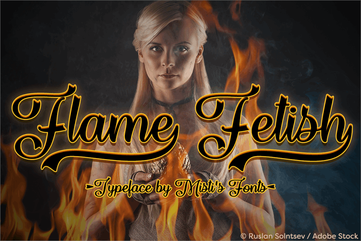Flame Fetish font by Misti's Fonts