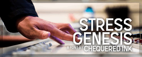 Stress Genesis font by Chequered Ink