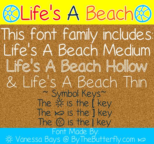 Life's A Beach font by ByTheButterfly