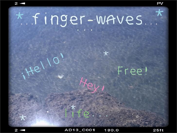 finger waves font by Cé - al