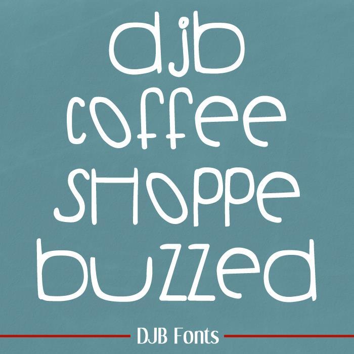 DJB COFFEE SHOPPE BUZZED font by Darcy Baldwin Fonts