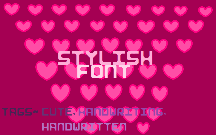 Stylish II font by GeelynEdits