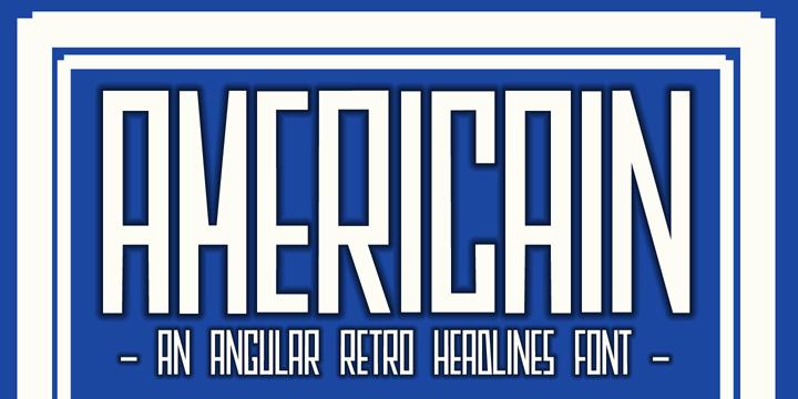 DK Americain font by David Kerkhoff