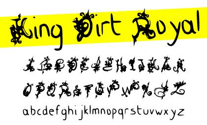 King Dirt Royal font by Davy Meykens