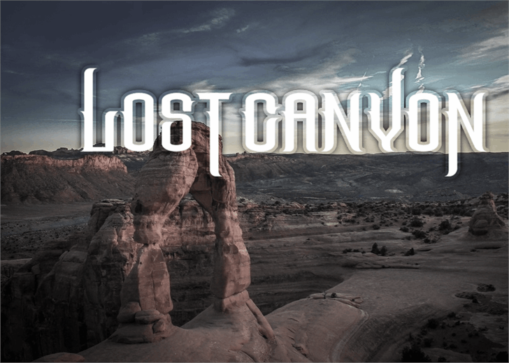 The Lost Canyon font by Font Monger