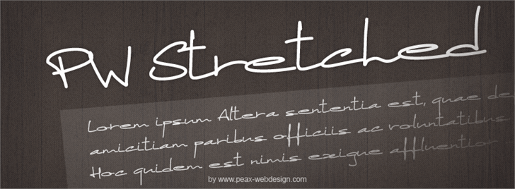 PWStretched font by Peax Webdesign