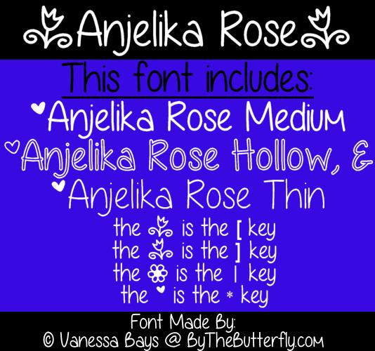 Anjelika Rose font by ByTheButterfly
