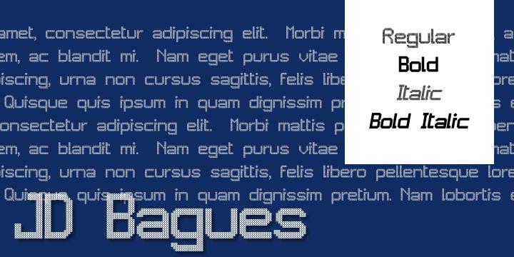 JD Bagues font by Jecko Development