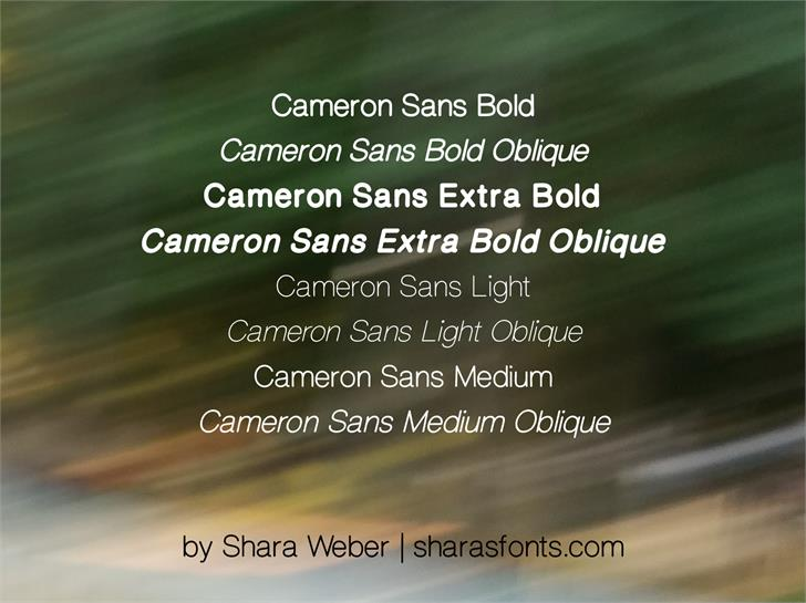 CameronSans font by Shara Weber