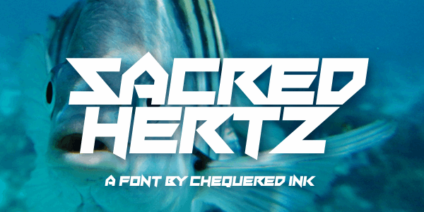 Sacred Hertz font by Chequered Ink