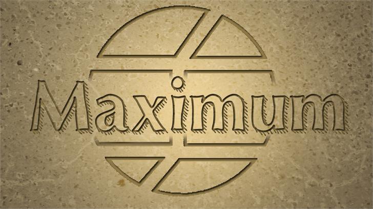 Maximum font by Jake Luedecke Motion & Graphic Design