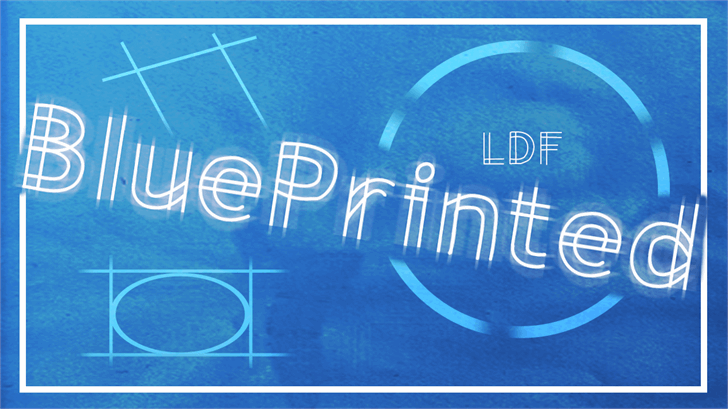 BluePrinted font by Jake Luedecke Motion & Graphic Design